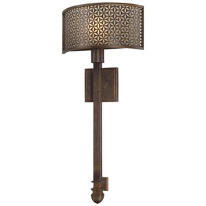 Ajourer French Bronze Wall Sconce
