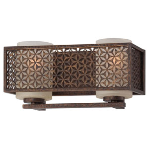 Ajourer French Bronze Two-Light Bath Fixture