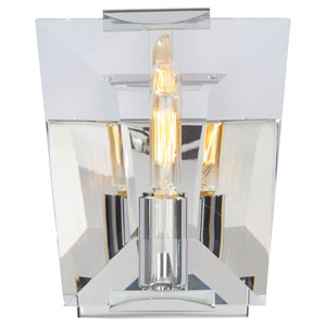 Castle Aurora Polished Nickel One-Light Bath Light