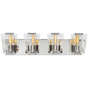 Castle Aurora Polished Nickel Four-Light Bath Light