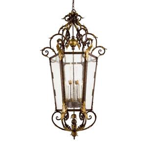 Zaragoza Large Lantern Pendant - Golden Bronze