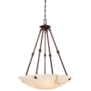 Virtuoso II Bronze Patina Five-Light Bowl Pendant
