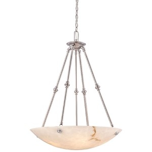 Virtuoso II Pewter Plated Five-Light Bowl Pendant