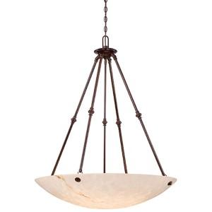 Virtuoso II Bronze Patina Six-Light Bowl Pendant