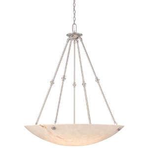 Virtuoso II Pewter Plated Six-Light Bowl Pendant