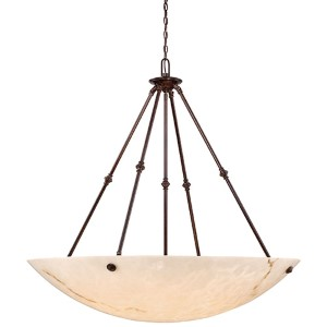 Virtuoso II Bronze Patina Eight-Light Bowl Pendant