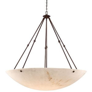Virtuoso II Bronze Patina 12-Light Bowl Pendant