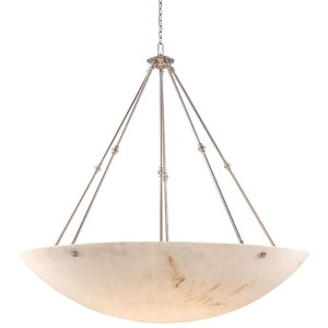 Virtuoso II Pewter Plated 12-Light Bowl Pendant