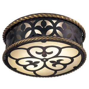 Montparnasse French Black Flush Mount Ceiling Light
