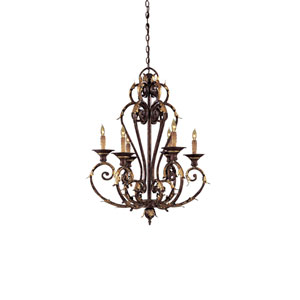 Zaragoza Golden Bronze Six-Light Chandelier
