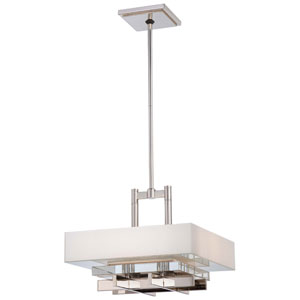 Eden Roe Polished Nickel Four Light Pendant