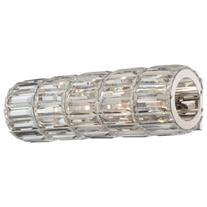 Crysalyn Falls Polished Nickel Wall Sconce