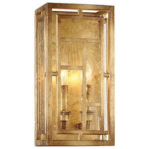 Edgemont Park Pandora Gold Leaf 7-Inch Two-Light Wall Sconce