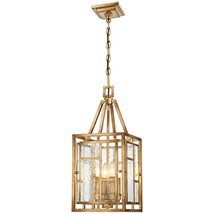 Edgemont Park Pandora Gold Leaf 10-Inch Four-Light Pendant