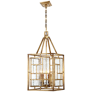 Edgemont Park Pandora Gold Leaf 14-Inch Four-Light Pendant