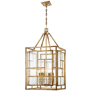 Edgemont Park Pandora Gold Leaf 18-Inch Six-Light Pendant