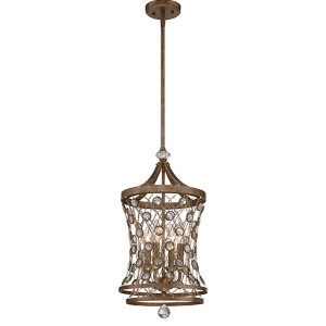 Vel Catena Arcadian Gold Four-Light Foyer Pendant