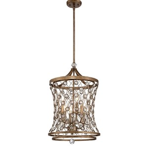 Vel Catena Arcadian Gold Six-Light Foyer Pendant