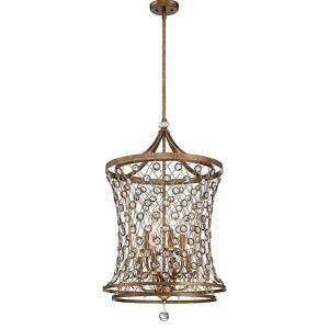 Vel Catena Arcadian Gold Eight-Light Foyer Pendant