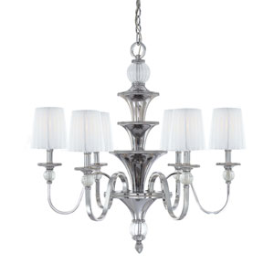 Aise Polished Nickel Six-Light Chandelier