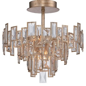 Bel Mondo Luxor Gold Five-Light Semi-Flush Mount