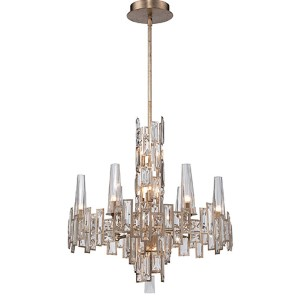 Bel Mondo Luxor Gold 12-Light Chandelier