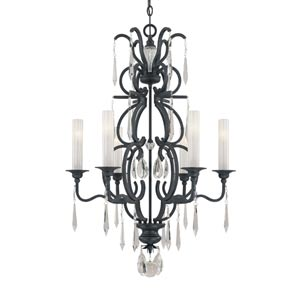 Castellina Aged Iron Six-Light Chandelier
