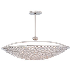 Magique Polished Nickel Ten-Light Bowl Pendant