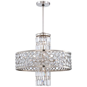 Magique Polished Nickel 13-Light Pendant