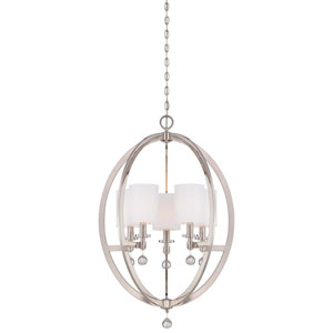 Chadbourne Polished Nickel Five-Light Chandelier