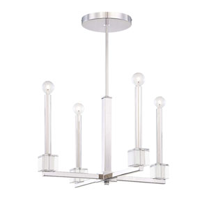 Chadbourne Polished Nickel Four-Light Chandelier
