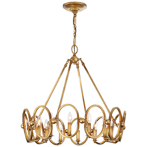 Clairpointe Pandora Gold Leaf Twelve-Light Pendant