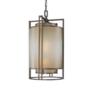 Walt Disney Signature Underscore Cimarron Bronze Three-Light Foyer Pendant