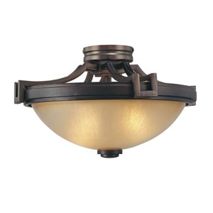 Walt Disney Signature Underscore Cimarron Bronze Two-Light Semi Flush