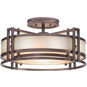 Underscore Cimmaron Bronze Three-Light Semi-Flush Mount