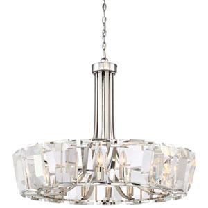 Castle Aurora Polished Nickel Sixteen-Light Chandelier
