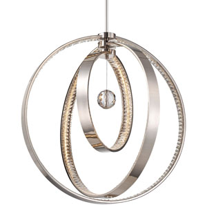 Winter Solstice Polished Nickel LED-Light Chandelier