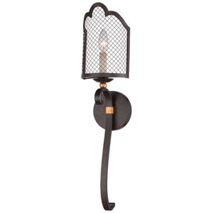 Cortona French Bronze with Gold Highlight One-Light Wall Sconce