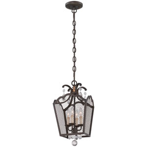 Cortona French Bronze with Gold Highlight Four-Light Pendant