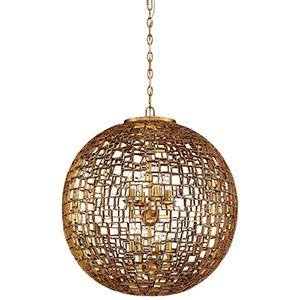 Abbondanza Halcyon Gold 25-Inch Eight-Light Pendant