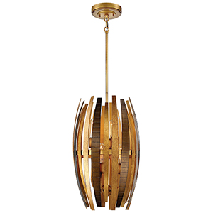 Manitou Ardor Gold 13-Inch Six-Light Pendant