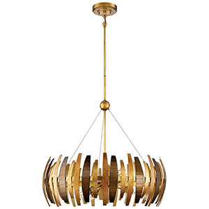 Manitou Ardor Gold 29-Inch Six-Light Pendant