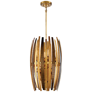 Manitou Ardor Gold 17-Inch Eight-Light Pendant