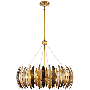 Manitou Ardor Gold 34-Inch Eight-Light Pendant