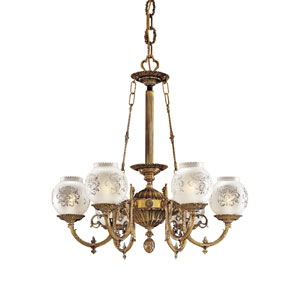 Vintage Six-Light Chandelier