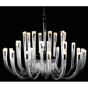 Metropolitan Chrome and Clear Glass 32-Light Chandelier