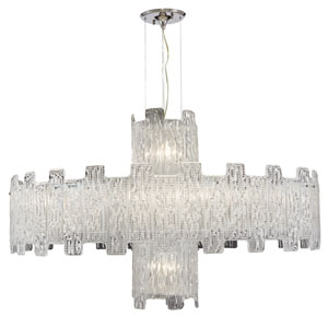 Metropolitan  Clear Crystal Fourteen-Light Chandelier