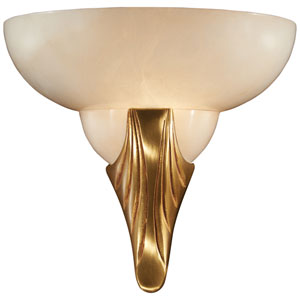 Metropolitan  French Gold with Alabaster Glass One-Light 3-Inch Wall Sconce