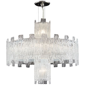 Metropolitan Clear Crystal Ten-Light 32-Inch Chandelier