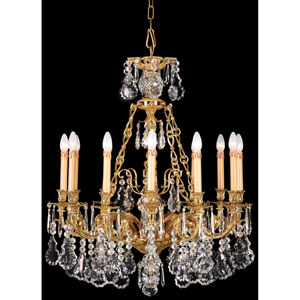 French Gold Thirty-One-Inch Chandelier